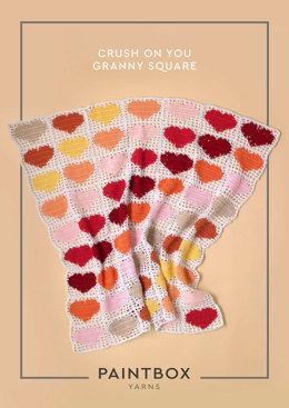 """Crush on You Granny Square"" - Crochet Pattern For Home in Paintbox Yarns Cotton DK"