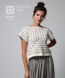 """Agneta Top"" - Top Crochet Pattern For Women in MillaMia Naturally Soft Aran"