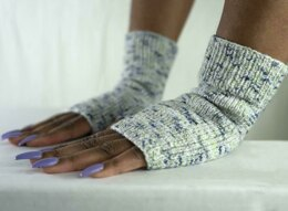 Splash Everyday EZ Fingerless Mitts in Cascade Yarns Fixation  - DK593 - Downloadable PDF