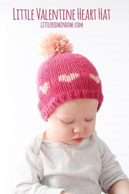 Little Valentine Fair Isle Heart Hat