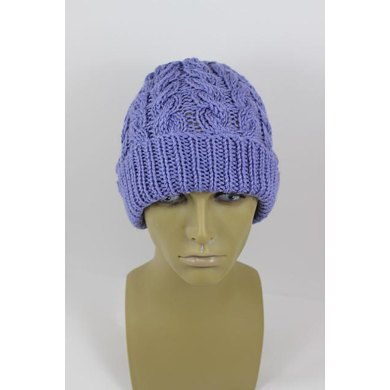 Chunky Double Twist Cable Beanie Hat