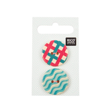 Rico Wooden Buttons, Graphic Print