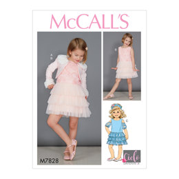 McCall's Children's/Girls' Bolero and Dresses M7828 - Sewing Pattern