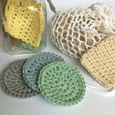 Face Scrubbies with Laundry Bag