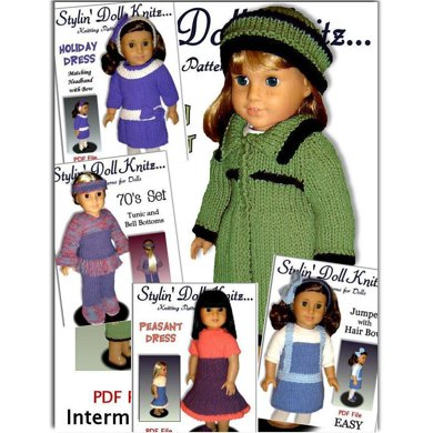 Patterns, for American girl and 18 inch doll, knitting. 06