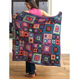 Bright Squares Blanket and Pillow in Patons Decor