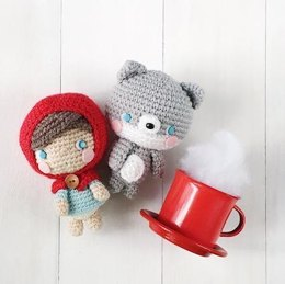 Little Red and Baby Wolf Amigurumi Pattern