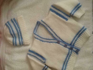 Blue trimed Little cardigan