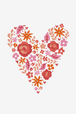 Heart Confetti in DMC - PAT0887 - Downloadable PDF