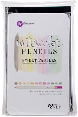 Prima Marketing Watercolor Pencils 12/Pkg - Sweet Pastels