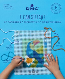 DMC Tapestry Kit 'I Can Stitch!' - The Toucan - 13 x 18cm