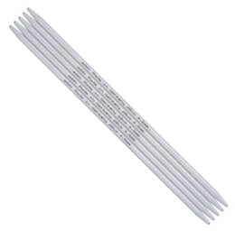Addi Aluminum Double Point Needles 15cm (6in) (Set of 5)
