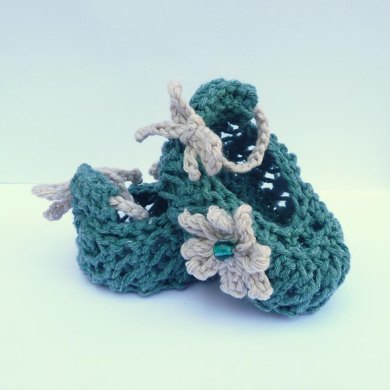 Spring Flower Baby Shoes