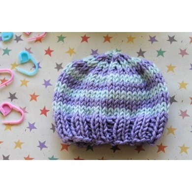 Quill Knitting Pattern : Perfect Preemie Baby Hat Knitting pattern by Heather Quill