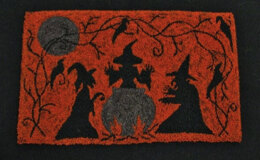 The Old Tattered Flag All Hallows Eve Punch Needle Pattern with Printed Weaver's Cloth - OTF60 - Leaflet