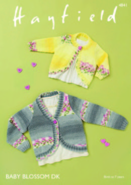 Cardigans in Hayfield Baby Blossom DK - 4841 - Downloadable PDF