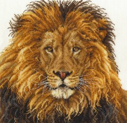 DMC Lion's Pride 14 Count Cross Stitch Kit - 25cm x 25cm - BK1668