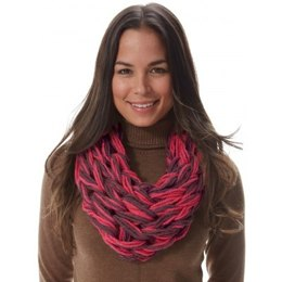 I-Cord Arm Knit Cowl in Bernat Softee Chunky