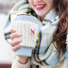 Knit Coffee Cozy, Coffee Sleeve