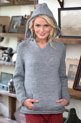 Pullover mit Kapuze in Red Heart Lisa - LW4468DE - Downloadable PDF