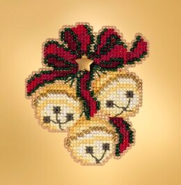 Mill Hill Winter Holiday - Jingle Bell Trio Seasonal Ornament - 2.5inx3in