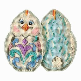 Mill Hill White Chick Beaded Cross Stitch Kit - Multi