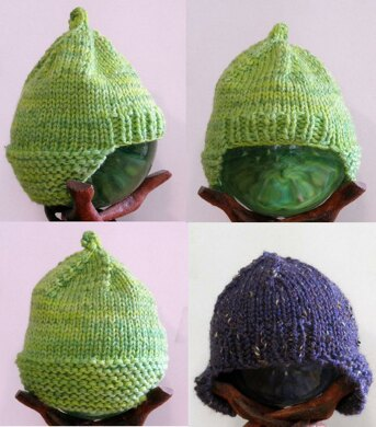 Tiny Baby Ear Snuggling Hat Knitting pattern by Diana Troldahl ... 67575936580