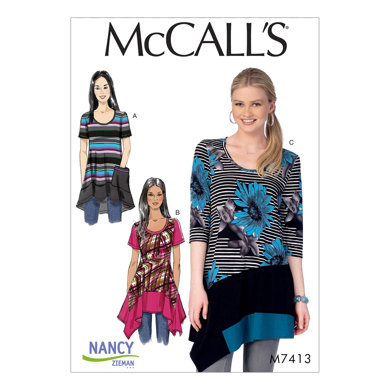McCall's Misses'/Women's Tops M7413 - Sewing Pattern