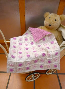 Hearts Encircled - Pram Cover Crocheted