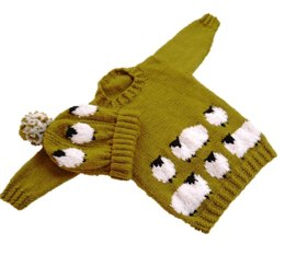 Sheep Sweater and Hat