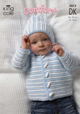 Jacket, Sweater and Body Warmer in King Cole Comfort DK - 3013