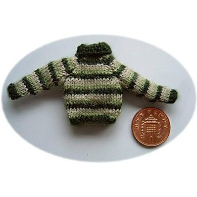 1:12th scale Childs Striped Jumper