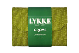 Lykke Grove 5in IC Set - Green Basketweave Effect Interchangeable Tips Needle