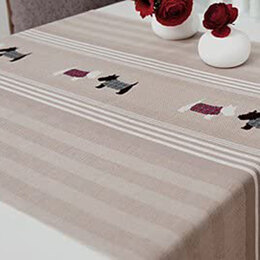 Rico Natural Stripes Runner - 57 x 150cm - Beige