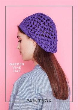 Garden Vine Hat in Paintbox Yarns Cotton DK - Downloadable PDF