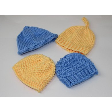 4 Easy Design Chunky Baby Hat Patterns Knitting pattern by ...