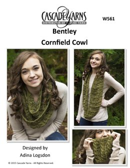 Cornfield Cowl in Cascade Yarns Bentley - W561 - Downloadable PDF
