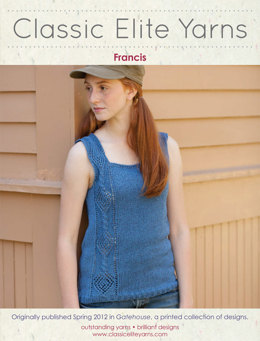 Francis Tank Top in Classic Elite Yarns Provence Marl - Downloadable PDF