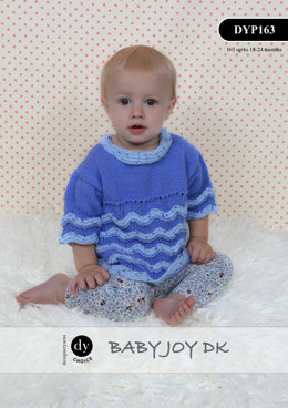 Chevron Jumper & Headband in DY Choice Baby Joy DK and Joy Print DK - DYP163