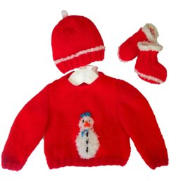 Baby Christmas Snowman Outfit