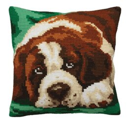 Collection D'Art Bernie Cushion Front Chunky Cross Stitch Kit - CD5165