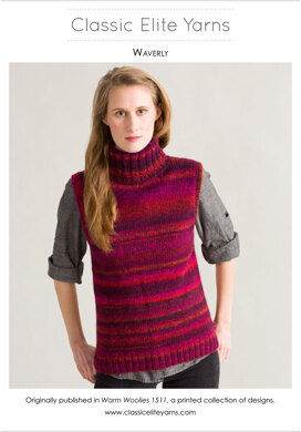 Waverly Vest in Classic Elite Yarns Camelot - Downloadable PDF