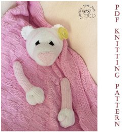 Girl Baby Bear Toy Blanket
