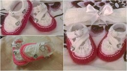 Arya Shoes with matching Hairband 0-3 and 3-6mths
