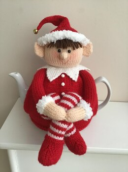 Christmas tea cosy Cheeky elf tea cosy