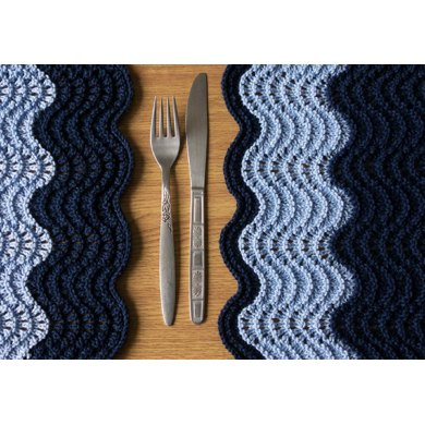Ocean Placemats Knitting Pattern By Anna Ravenscroft Knitting