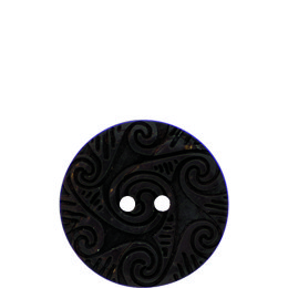 Galic Etched Coconut 30mm 2-Hole Button