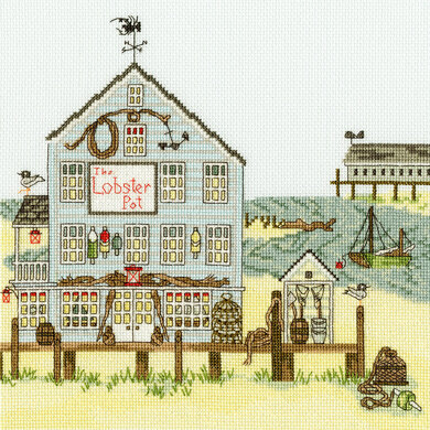Bothy Threads New England Lobster Pot Cross Stitch Kit