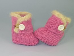 FREE Baby Fur Trim One Button Booties Bootees
