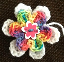 Layered Button Flower Accent